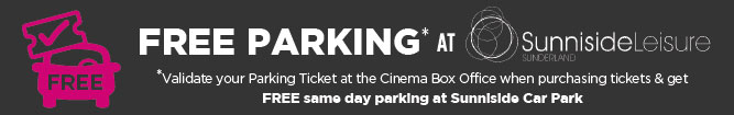 Free Parking / Validate Car Park Ticket In Cinema